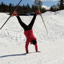 Catarina Henriksson hjular med längdskidor