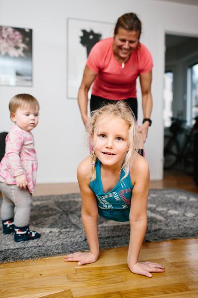 Styrketräning tillsammans med barn