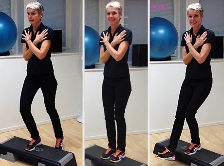 3 övningar vid mild till måttlig knäledsartros