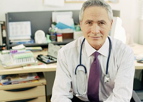 manlig läkare