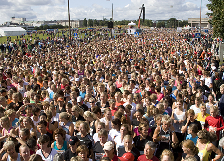 Innan starten på Gärdet 2014. Foto: Bengt Aronsson/Tjejmilen