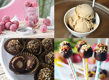 Collage på nyttigare sötsaker