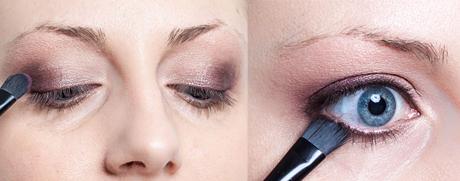 Lägg sedan en mörk ögonskugga och sudda eyelinern.