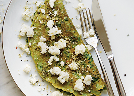grön omelett