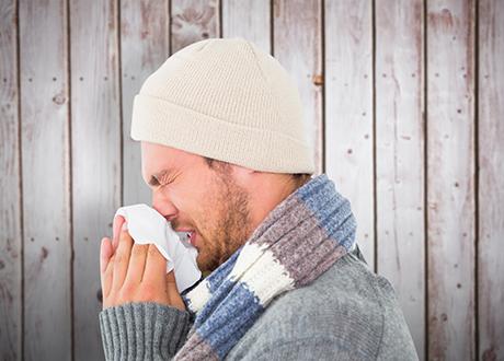 förkyld man