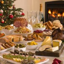 Julbord med julmat