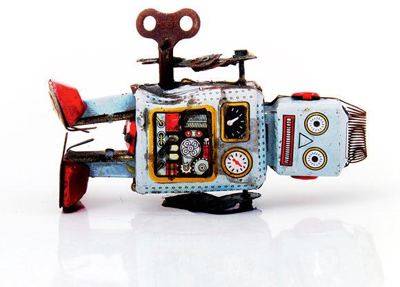 Robot ligger ner