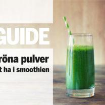 glas med grön smoothie