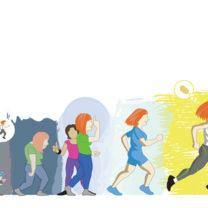 Illustration av förändringstrappa