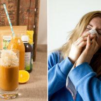 Immunförsvarssmoothie med morot, citron och ingefära