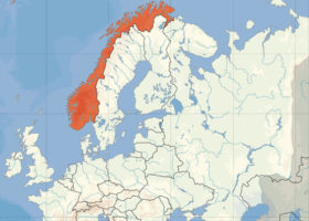 Norge karta europa