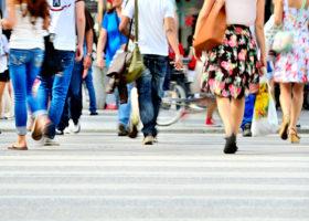 Människor på gata