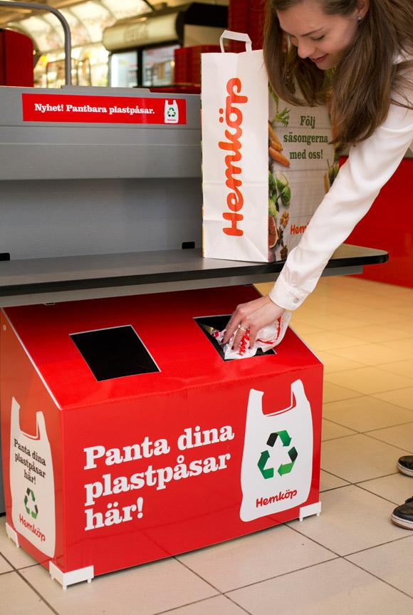 pant plastpåsar på Hemköp
