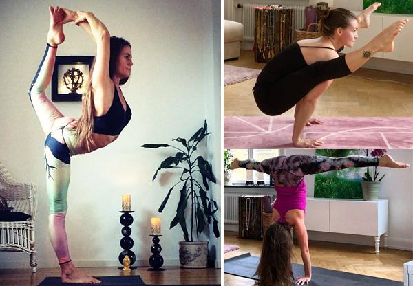 bella håkansson kollage yogakläder