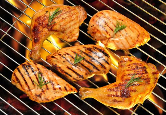 kyckling på grillen