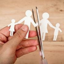 en familj som splittras