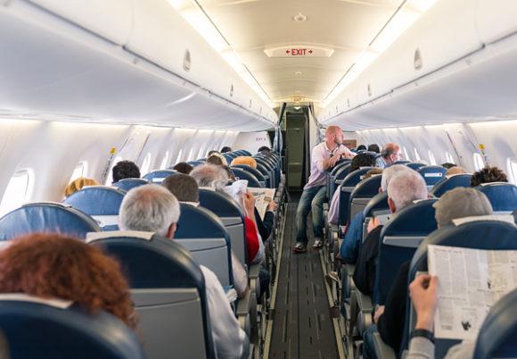 Inutit ett fullsatt flygplan