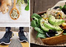 sallad kosttillskott och joggingskor