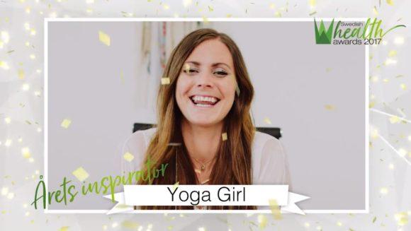 Rachel Bråthén/Yoga Girl kunde tyvärr inte närvara men skickade en videohälsning