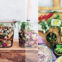 picklad zuccini och branteviksinläggning från kokboken den goda gröna julen av carolina jönsson