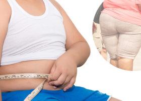 barn med tjock mage överviktig vuxen