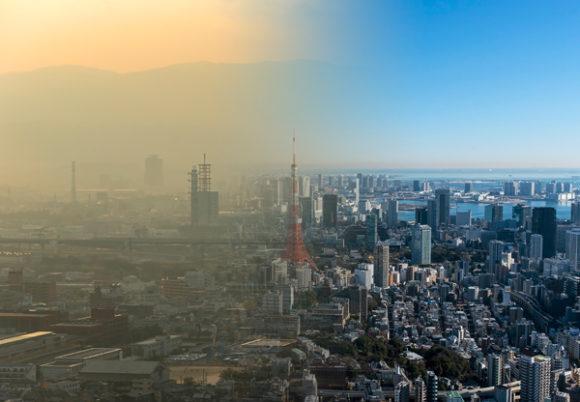 förorenad luft och frisk luft