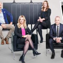 patrik wincent,frida boisen, magdalena kowalczyk och magnus hedberg som tillsamamns leder lyxfällan i TV3