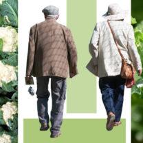 grönsaker äldre par