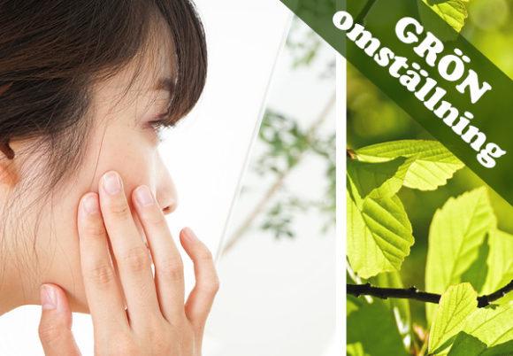 ansikte texten grön omställning