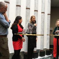 Journalisten Po Tidholm, Amina Manzoor, medicinreporter på Dagens Nyheter och Emma Frans, doktor i medicinsk epidemiologi Jenny Jewert redaktör och moderator på Skafferiet