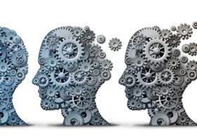 illustration med kugghjul i hjärnan