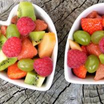 hjärtformade fruktskålar