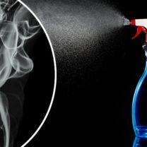 rengöringsspray och rök