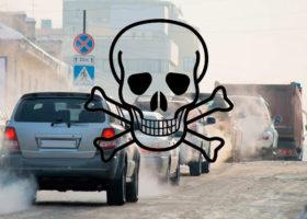 bilavgaser dödskalle