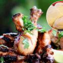 rå och tillagad kyckling