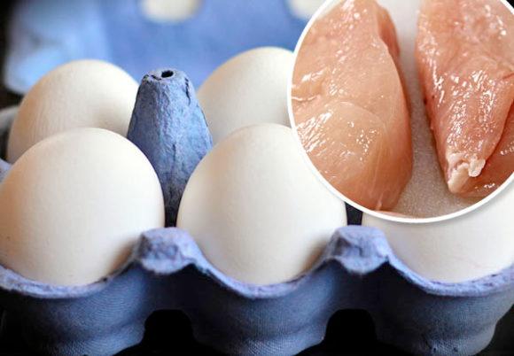 dyrare agg och kyckling i host