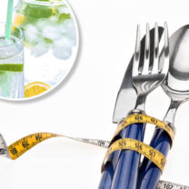 bestick måttband citronvatten