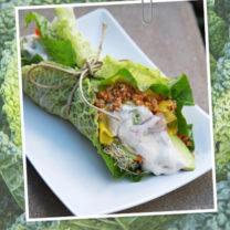 savoykål och råa wraps med tacofyllning