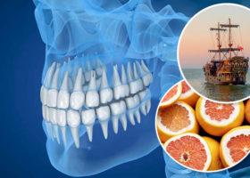 tänder skepp citrusfrukt