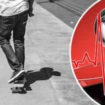 kille på skateboard energidryck ekg