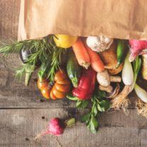 Matkasse med gronsaker