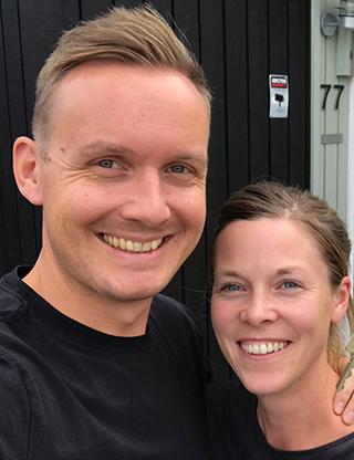 Elisabeth Byström och Johan Ernfors som driver Minimalisterna