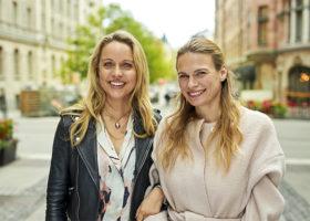 Mia Clase och Lina Nertby Aurell bakom Food Pharmacy