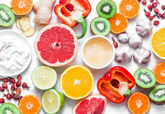 citrus, vitlök, kiwi