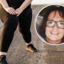 kvinna med tjocka lår