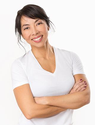 Kvinna halvbild