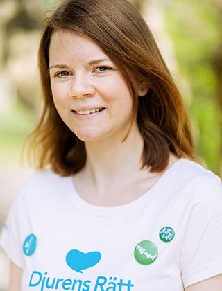 Porträttbild på Anna Harenius, sakkunnig på Djurens rätt