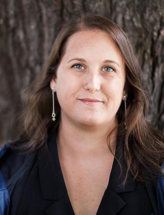 Porträttbild på Camilla Bergvall, förbundsordförande Djurens rätt