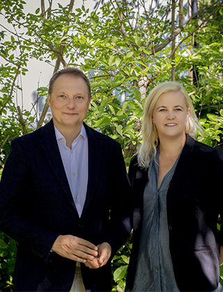 Magnus Carlson och Johanna Stål, författare