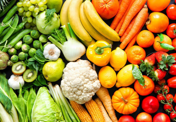 färgrika grönsaker
